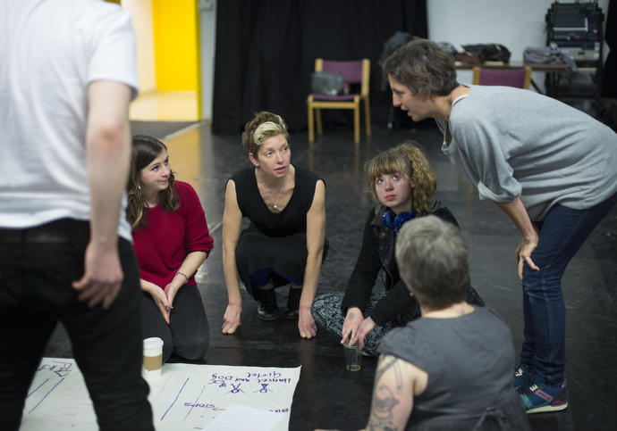 group of adults participating in a workshop