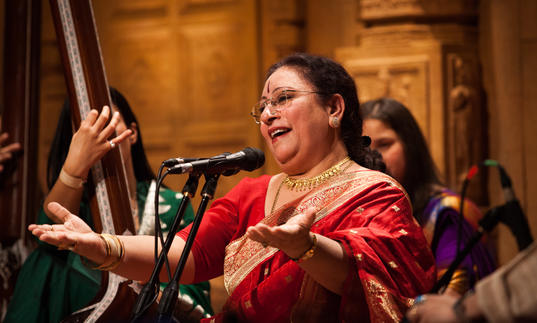 Parveen Sultana dinging a song