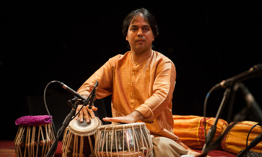 Sanju Sahai playing tabla