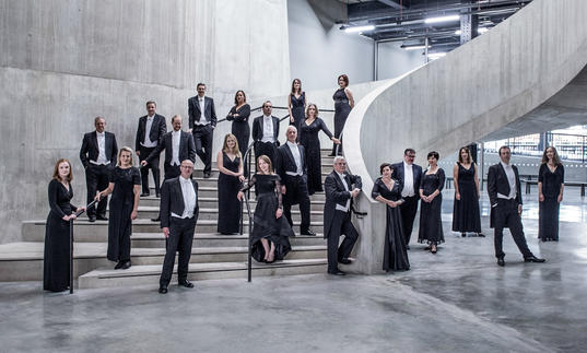 BBC Singers group stairs