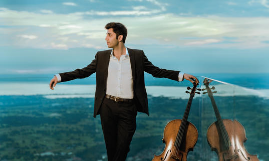 Kian Soltani 2017 holding cello