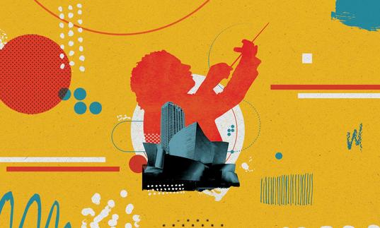 Los Angeles Philharmonic residency illustration