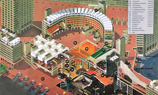 Illustrated Barbican map