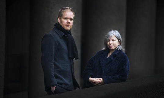 Max Richter and Yulia Mahr at the Barbican