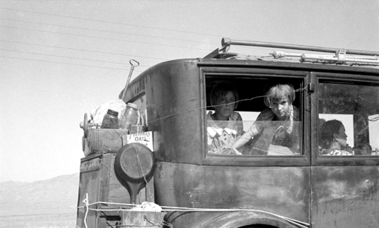Photo taken by Dorothea Lange entitled Cars on the Road
