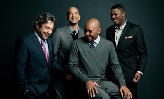 Branford Marsalis having a laugh with his quartet