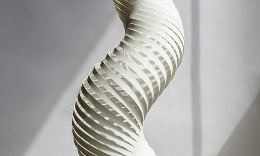 Image of paper engineering sculpture by KUF studios as part of Make!