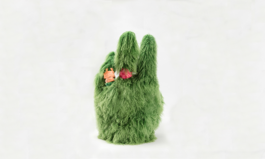 Green Muppet Hand (2018) by Francis Upritchard