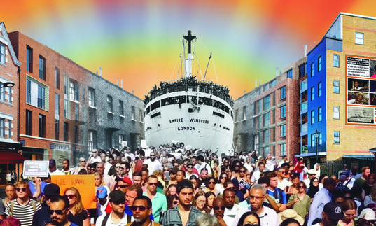 An illustration of the Windrush
