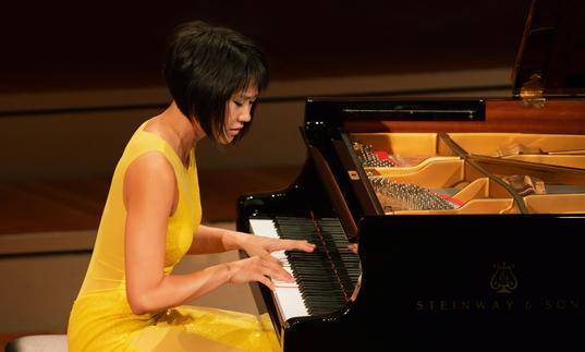 Yuja Wang playing piano