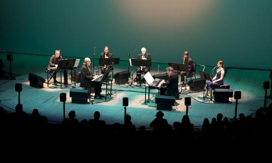 Philip Glass Ensemble on Stage