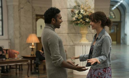 Lily James and Himesh Patel