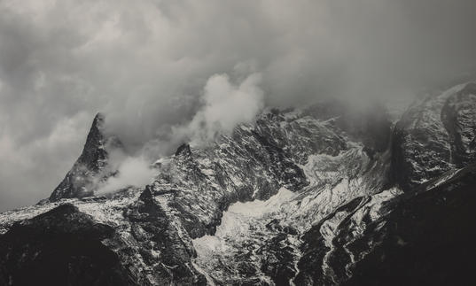Photo of Everest shrouded in cloud