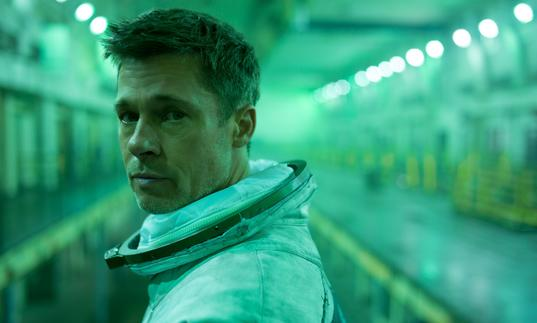 Brad Pitt in a space station