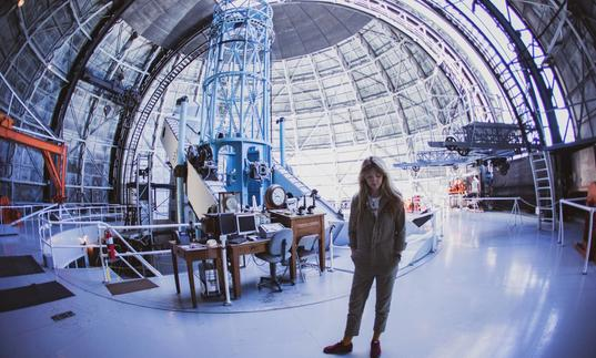 An image of Beatie Wolfe at Mount Wilson Observatory
