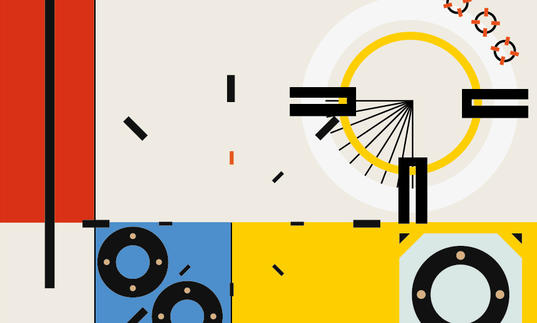 Artwork for the Bauhaus 100th concert