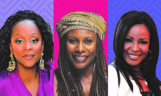 A composite image of Brenda Russell, Regina Belle and Angela Winbush