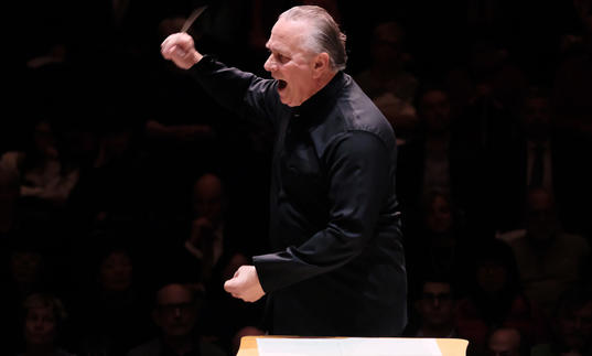 Mark Elder conducting with great passion