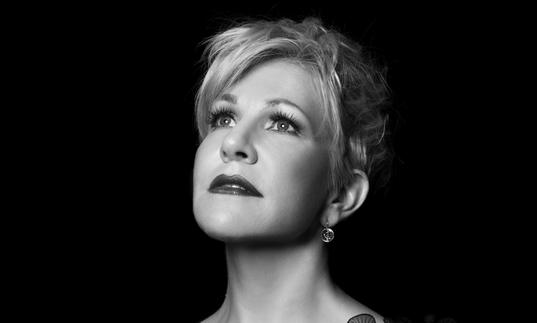 Joyce DiDonato looking up