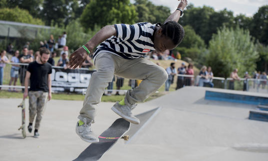 Skatepark Jam at the 2019 Walthamstow Garden Party