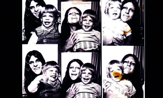 a camera roll of a woman with a young boy (mother and son) making faces at the camera