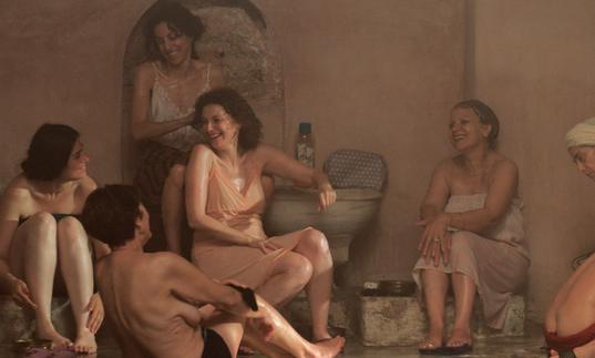 women in a turkish bath