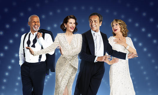 Gary Wilmot, Megan Mullally, Robert Lindsay and Felicity Kendal in Anything Goes