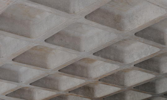 Photo of concrete roof on Barbican highwalk